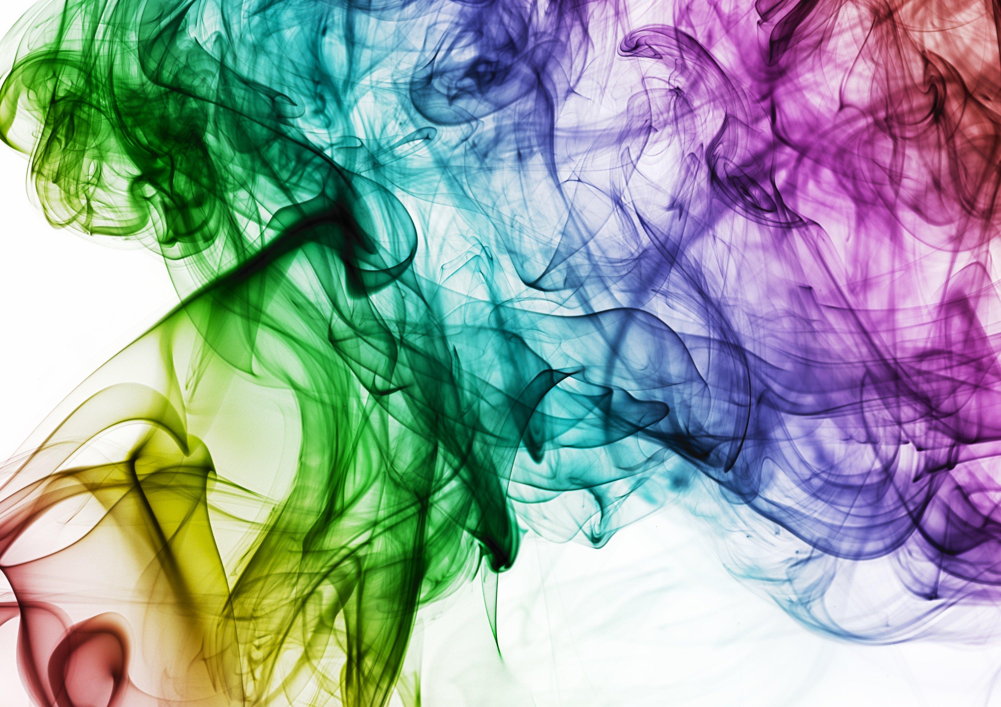 Farbenspiel Rauch farbig Florence Zumbihl