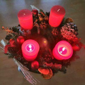 Adventskranz Kerzen Licht