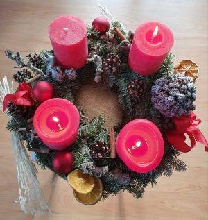 Adventskranz Licht Kerzen